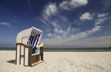 Beach chair relaxation photo