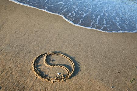 yin y yang: Yin Yang en la playa