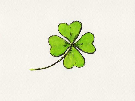 leafed: Four-leaf clover drawing