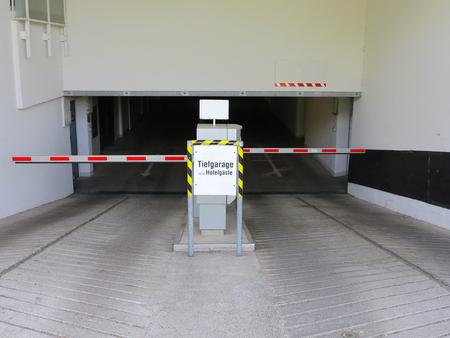 Parking garage entrance photo