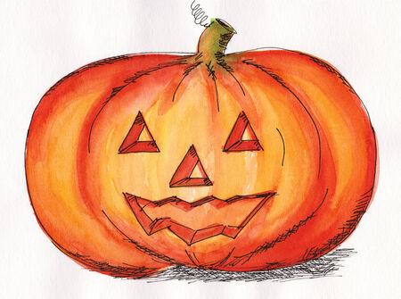 Halloween pumpkin face photo