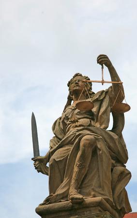 judicature: Statue of Lady Justice (Justitia) Stock Photo