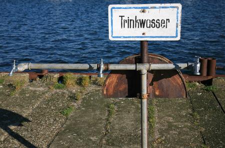 potable: Trinkwasser is the German word for potable water