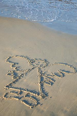 天使絵画浜辺