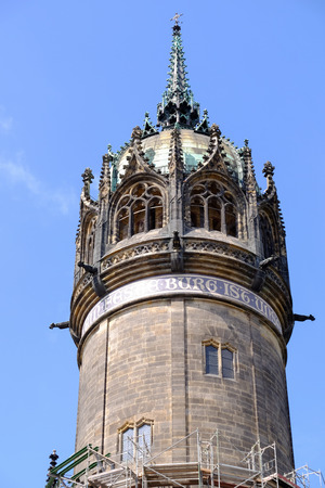 Tower of the church in Wittenberg where Martin Luther preached
