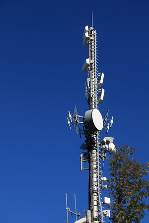 Antenna tower for cell phone communication