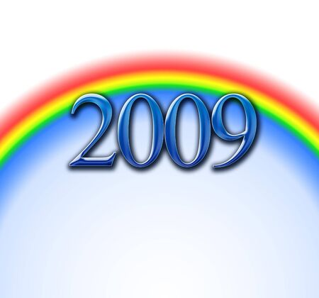 glacial: Rainbows of the new year 2009 with a glacial view