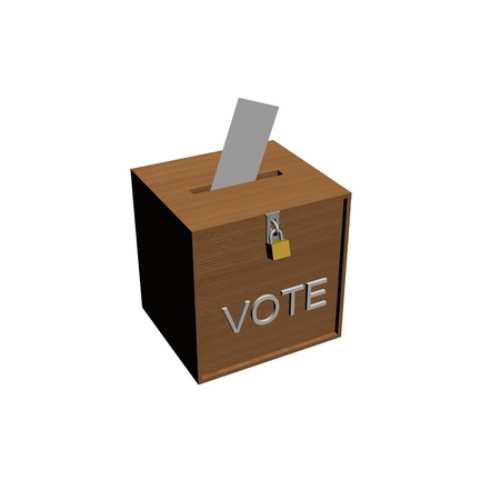 voting ballot: box vote