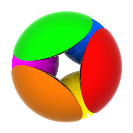 multicolored sphere 3D  Stock Photo - 10410489