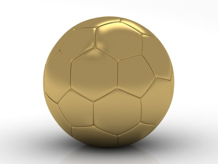 golden soccer ball photo