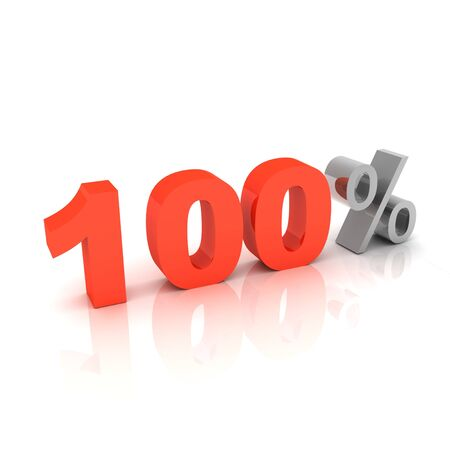 shadowed: 3d 100 percent sign  Stock Photo