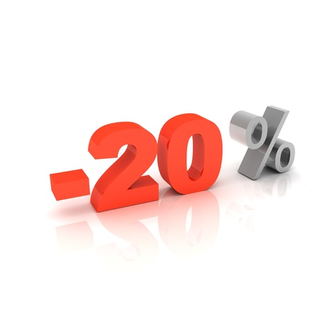 20 percent discount  Stock Photo - 13510903