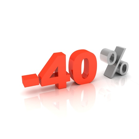 bank rate: 40 percent discount  Stock Photo