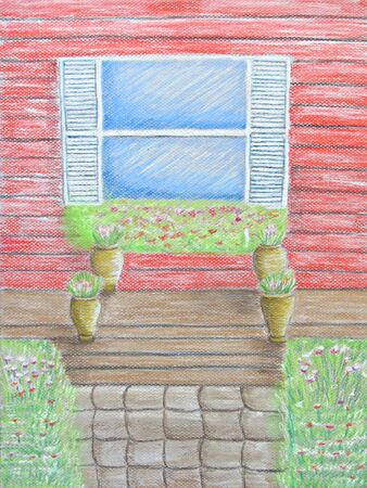 front of: Window Front Porch