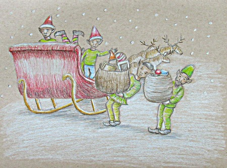 Elves in christmas day