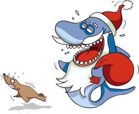faint: Shark Santa