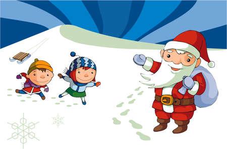 house of santa clause: Kids and Santa