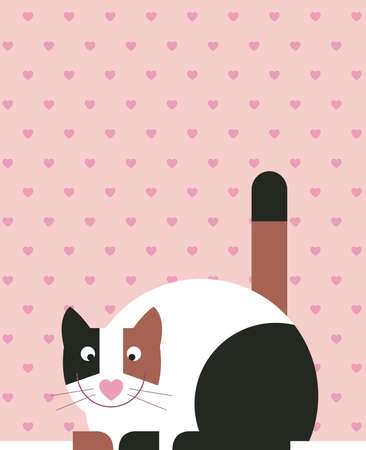 Black, white, brown coloured cat is sitting Stock Photo - 16906307