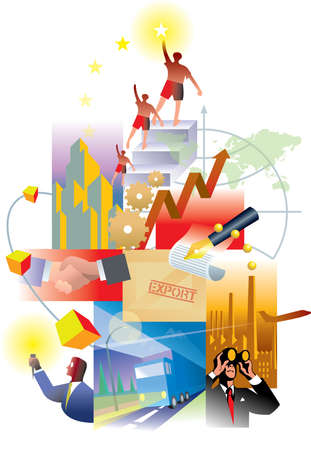 An illustration of global economy and business growth illustration