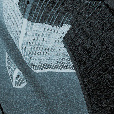 urbanized: A modern illustration of the  reflection of a city buildings