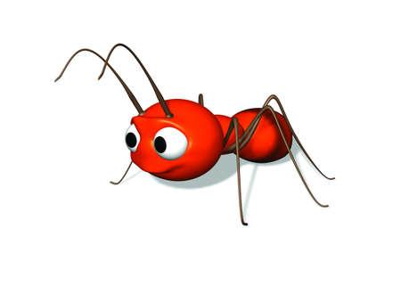 A 3D ant illustration