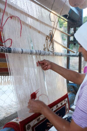 Traditional carpet maker