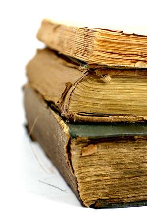 Old damaged books                     photo