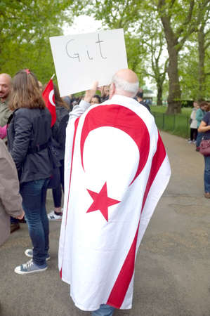 protester: Turkish Cypriot Protester Editorial