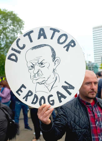 Turkish Protester in London