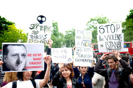 protesters: Turkish Protesters in London