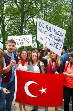 anti fascist: Turkish Protesters in London