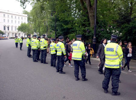 London police during a demonstration