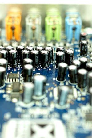 Close up technology parts Stock Photo