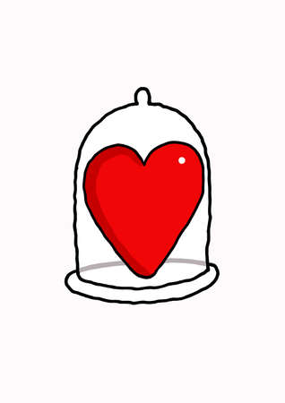 Vectorel humorous cartoon about Valentines day and Love