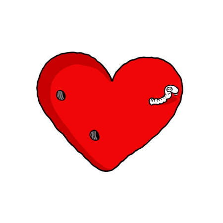 ectorel conceptual cartoon about Valentines day and Love Illustration