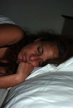 Sleeping woman photo
