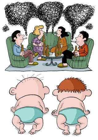 careless: Babies watch their alcoholic parents