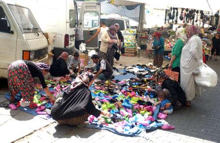specificity: Local Turkish outdoor market