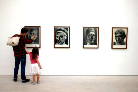 british museum: Family in Art exhibition at the Saatchi Gallery Editorial