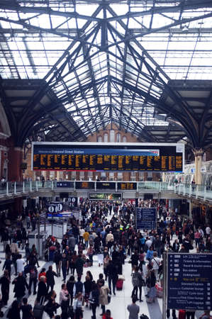 Rush hour in busy station