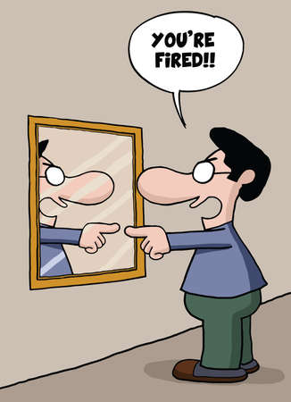 you are fired: Self Employment cartoon