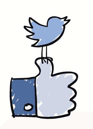 Social Media thumb Illustration