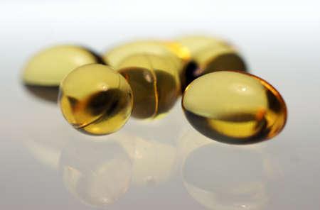 Omega 3 fish oil pills Stock Photo