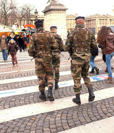 Soldiers in Paris  streets