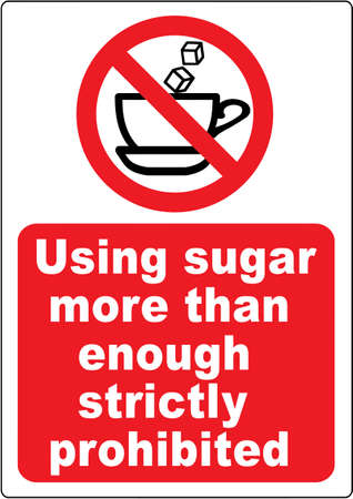 Funny coffee warning sign Vector