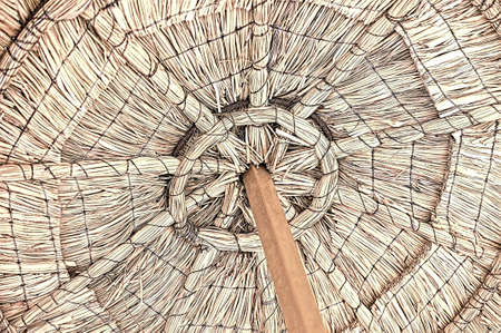 sunshines: Wicker parasol with it\ Stock Photo