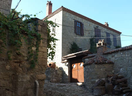 Stone house in Aegean cost of Turkey