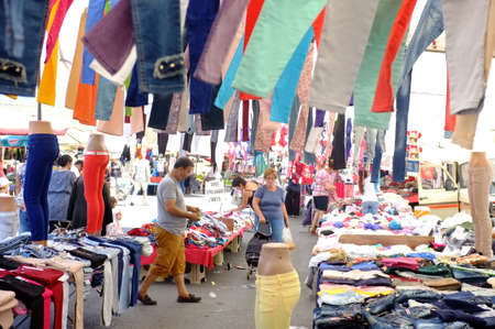illegal trading: Local outdoor clothing market Editorial
