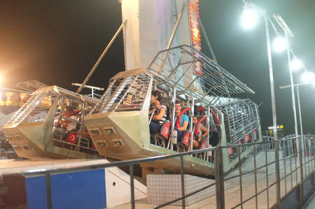 People in Pendulum ride