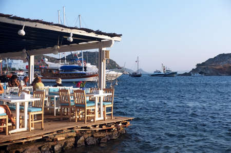 Seaside fish restaurant in Turkey